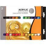 DALER-ROWNEY Simply Acrylic, Acrylfarben-Einsteigerset mit 24 x 12 ml, Multi