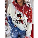 Damen Galaxis Kapuzenshirt Zur Seite fahren Weihnachten Weihnachten Kapuzenpullover Sweatshirts Wein Dunkelgrau Grau Lightinthebox