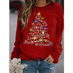 Damen Grafik Kapuzenshirt Pullover Weihnachten Täglich Grundlegend Weihnachten Kapuzenpullover Sweatshirts Wein Schwarz Rote Lightinthebox