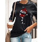 Damen Kapuzenshirt Pullover Grafik Alltag Andere Drucke Grundlegend Weihnachten Kapuzenpullover Sweatshirts Lose Grün Schwarz Lightinthebox
