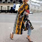 Damen Übergröße Mantel Druck Geometrisch Lang Coiled Gola Alltag Herbst Winter Weiß Purpur Rote Große Größe L XL XXL 3XL 4XL / Übergrössen Lightinthebox