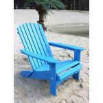 DanDiBo Strandstuhl Holz Blau Gartenstuhl klappbar Adirondack Deckchair 4260407935480 (93548)