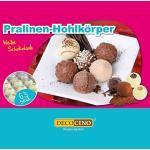 DECOCINO Pralinen-Hohlkörper (63 Stk) – Weiße Schokolade – Pralinen-Form |Pralinen selber machen – ideale Pralinen-Hohlkugeln für Weihnachts-Pralinen
