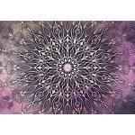 decomonkey   Fototapete Mandala Modern 400x280 cm XL   Tapete   Wandbild   Bild   Fototapeten   Tapeten   Wandtapete   Wanddeko   Orient Zen Rosa Violett