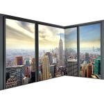 decomonkey Fototapete New York 550x250 cm Eckfototapete Design Tapete Fototapeten Tapeten Wandtapete moderne Wand Schlafzimmer Wohnzimmer Stadt City
