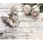 decomonkey Fototapete selbstklebend Holz Blumen 147x105 cm XL Selbstklebende Tapeten Wand Fototapeten Tapete Wandtapete klebend Klebefolie Engel Rose Vintage