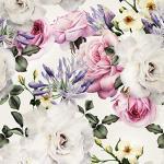 decomonkey Fototapete | Tapetenrolle 10 m Tapete Vliestapete Deko Panel Modern Design Wanddeko Wandtapete | Blumen Rose Pflanzen