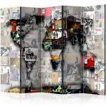 decomonkey Banksy Wohnaccessoires mit Weltkartenmotiv