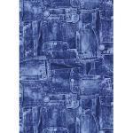 Décopatch Papier No. 381 Packung mit 20 Blätter (395 x 298 mm, ideal für Ihre Papmachés) blau, jeans