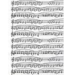 "Décopatch-Papier ""Noten"", schwarz-weiß, 39 x 30 cm, 3 Blatt"