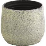 Dehner Übertopf »Yves, strukturiert, Keramik, silber«, silberfarben