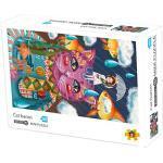 DeHolifer Puzzle-Erwachsene Puzzle-Landschaftsillustration-Puzzle-geeignet für die gesamte Familie-Eltern-Kind-Partner-Interaktion(1000 Teile)