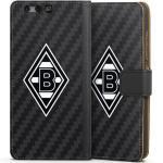 DeinDesign Handyhülle »Borussia Raute Carbon« Huawei P10, Hülle Gladbach Borussia Mönchengladbach Carbon, schwarz, schwarz