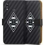 DeinDesign Handyhülle »Borussia Raute Carbon« Huawei P20 Lite, Hülle Gladbach Borussia Mönchengladbach Carbon, schwarz, schwarz