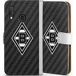 DeinDesign Handyhülle »Borussia Raute Carbon« Samsung Galaxy A20e, Hülle Gladbach Borussia Mönchengladbach Carbon, weiß, weiß