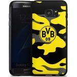 DeinDesign Handyhülle »BVB Camo« Samsung Galaxy S7 Edge, Hülle BVB Borussia Dortmund Fanartikel, schwarz, schwarz