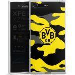 DeinDesign Handyhülle »BVB Camo« Sony Xperia XZ Premium, Hülle BVB Borussia Dortmund Fanartikel, weiß, weiß