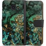 DeinDesign Handyhülle »Cyan Glitter Marble Look« Samsung Galaxy A3 (2016), Hülle Marmor Glitzer Look Muster, schwarz, schwarz