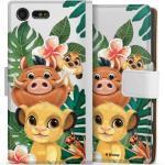 DeinDesign Handyhülle »Simba, Timon, Pumba transparent« Sony Xperia X Compact, Hülle Timon und Pumbaa König der Löwen Disney, weiß, weiß