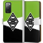 DeinDesign Klapphülle kompatibel mit Samsung Galaxy S20 FE Handyhülle aus Leder weiß Flip Case Gladbach Borussia Mönchengladbach Offizielles Lizenzprodukt