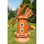 Deko-Shop-Hannusch Windmühle, Garten Windmühle, Holz Windmühlen, imprägniert, Kugelgelagert, 1.15 m