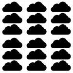 dekodino® Wandtattoo Set Wolken 18 Stück