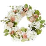 Dekokranz Frühlingsblüten, Durchmesser ca. 70 cm grün Kunstkränze Kunstpflanzen Wohnaccessoires