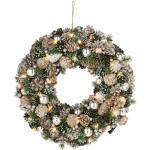 Dekokranz Weihnachten, mit 30 warmweißen LEDs grün Kunstkränze Kunstpflanzen Wohnaccessoires