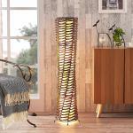 Dekorative Wohnraum-Stehlampe Joas in Braun