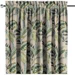 Dekoria Vorhang, olivgrün, beige