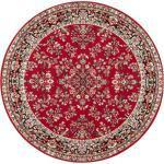 DELAVITA Teppich »Halton«, rund, Höhe 8 mm, Kurzflor, Orient-Optik, Wohnzimmer, rot, rot