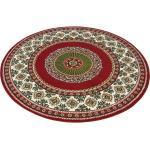 DELAVITA Teppich »Shari«, rund, Höhe 7 mm, Orient - Dekor, Wohnzimmer, rot, rot