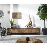 DELIFE TV-Board »Famke«, 175x45x63 cm Exotic Wood Fishbone