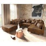 DELIFE Wohnlandschaft Clovis Braun Vintage Optik modular Hocker, Design Wohnlandschaften, Couch Loft, Modulsofa, modular