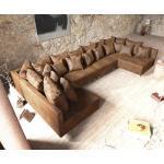DELIFE Wohnlandschaft Clovis XL Braun Antik Optik Modulsofa, Design Wohnlandschaften, Couch Loft, Modulsofa, modular