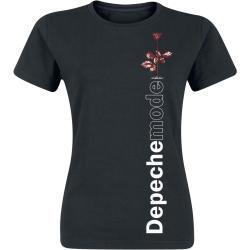 Schwarze Halblangärmelige Depeche Mode Rundhals-Ausschnitt Damenbandshirts Größe XXL