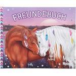 Depesche 11038 Freundebuch Miss Melody, für Mädchen, ca. 17,5 x 21 x 1,5 cm groß, mit 108 vorgedruckten Seiten und Cover mit traumhaftem Pferde Motiv
