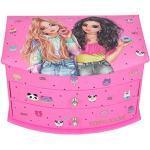 Depesche 11235 Schmuckkästchen mit Spiegel, TOPModel Candy Cake, rosa, ca. 19,2 x 14 x 11 cm