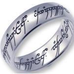 Der Herr der Ringe Fingerring »Der Eine Ring - Wolfram, 10004061«, Made in Germany, silberfarben