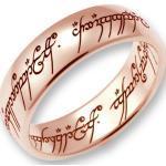 Der Herr der Ringe Goldring »Der Eine Ring - Rotgold, 10004077, 10004078, 10004079«, Made in Germany, goldfarben, Rotgold 585, Rotgold 585