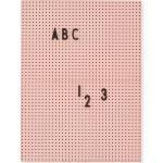 Design Letters Buchstabentafel A4 Nude