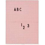 Design Letters Message Board - A4 (Pink) - Letter Board für den täglichen Gebrauch, hängen Sie es an die Wand in der Küche, Eingangshalle oder Büro, Symbole, Zubehör sind separat erhältlich