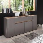 Design Sideboard in Anthrazit und Wildeichefarben 170 cm breit