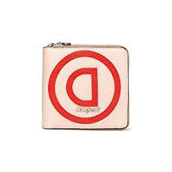 Desigual Damen Mone_Logo Patch Zip Square Geldbörse Beige (Beige)