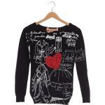 Desigual Damen Pullover schwarz, INT S, Baumwolle , EBD00F0