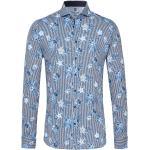 Desoto Slim Fit Jerseyhemd blau/weiss, Gestreift