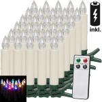 Deuba 30er Kerzen mit Fernbedienung bunt incl. Batterien (39,99 € pro 1 stk.)