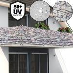 Deuba Sichtschutz für Balkon/Gartenzaun - 5m Stein/Mauer (29,99 € pro 1 stk.)