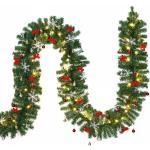 Deuba Weihnachtsgirlande 5m geschmückt (27,99 € pro 1 stk.)