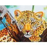 "DIAMOND DOTZ® DD7.002 Original Diamond Painting Leopard Look"" 46 x 35,5 cm"